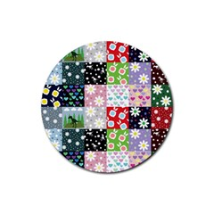 Dino Quilt Rubber Round Coaster (4 Pack)