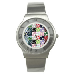Dino Quilt Stainless Steel Watch