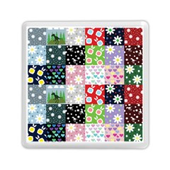 Dino Quilt Memory Card Reader (square)