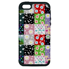 Dino Quilt Apple Iphone 5 Hardshell Case (pc+silicone)