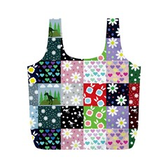 Dino Quilt Full Print Recycle Bags (m)