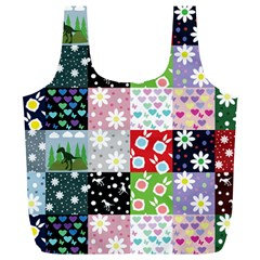 Dino Quilt Full Print Recycle Bags (l)