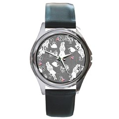 Chalkboard Kids Round Metal Watch