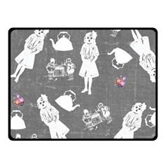 Chalkboard Kids Fleece Blanket (small)
