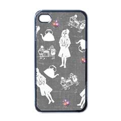 Chalkboard Kids Apple Iphone 4 Case (black)