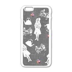Chalkboard Kids Apple Iphone 6/6s White Enamel Case