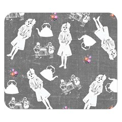 Chalkboard Kids Double Sided Flano Blanket (small)