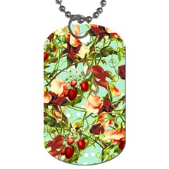 Fruit Blossom Dog Tag (two Sides)