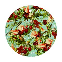 Fruit Blossom Round Ornament (two Sides)