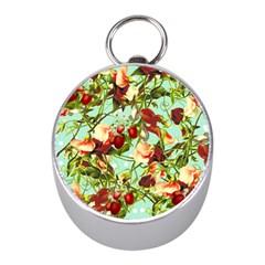Fruit Blossom Mini Silver Compasses