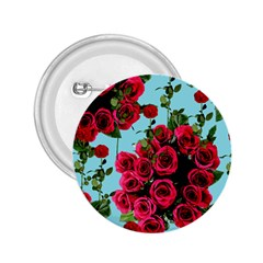 Roses Blue 2 25  Buttons