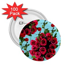 Roses Blue 2 25  Buttons (100 Pack)