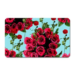 Roses Blue Magnet (rectangular)