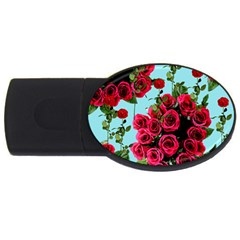Roses Blue Usb Flash Drive Oval (2 Gb)