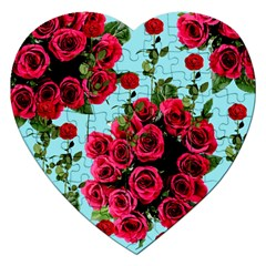 Roses Blue Jigsaw Puzzle (heart)