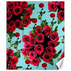 Roses Blue Canvas 20  X 24