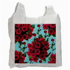 Roses Blue Recycle Bag (one Side)