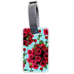 Roses Blue Luggage Tags (two Sides)