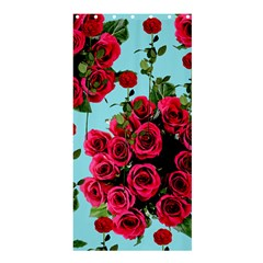 Roses Blue Shower Curtain 36  X 72  (stall)