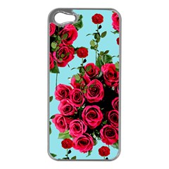 Roses Blue Apple Iphone 5 Case (silver)