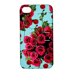 Roses Blue Apple Iphone 4/4s Hardshell Case With Stand