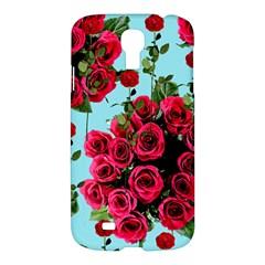 Roses Blue Samsung Galaxy S4 I9500/i9505 Hardshell Case