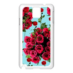 Roses Blue Samsung Galaxy Note 3 N9005 Case (white)