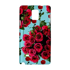 Roses Blue Samsung Galaxy Note 4 Hardshell Case