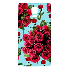 Roses Blue Galaxy Note 4 Back Case