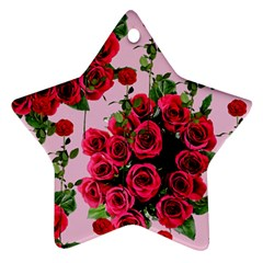 Roses Pink Ornament (star)