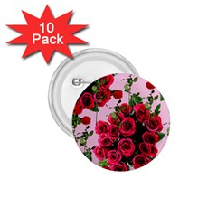 Roses Pink 1 75  Buttons (10 Pack)