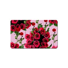 Roses Pink Magnet (name Card)