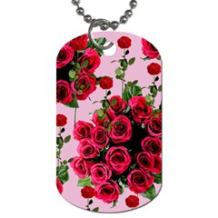 Roses Pink Dog Tag (one Side)
