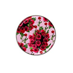 Roses Pink Hat Clip Ball Marker (10 Pack)