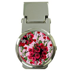 Roses Pink Money Clip Watches