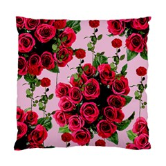 Roses Pink Standard Cushion Case (one Side)