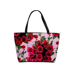 Roses Pink Shoulder Handbags