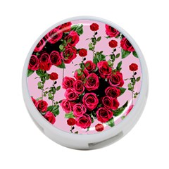 Roses Pink 4 Port Usb Hub (two Sides)