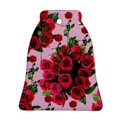 Roses Pink Bell Ornament (two Sides)