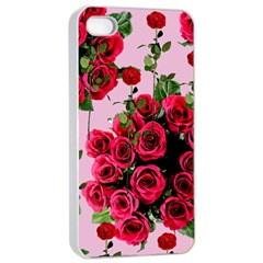 Roses Pink Apple Iphone 4/4s Seamless Case (white)
