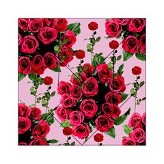Roses Pink Acrylic Tangram Puzzle (6  X 6 )
