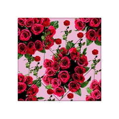 Roses Pink Acrylic Tangram Puzzle (4  X 4 )