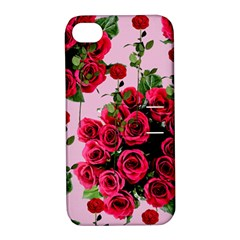 Roses Pink Apple Iphone 4/4s Hardshell Case With Stand