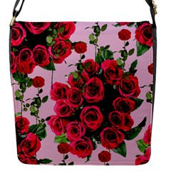 Roses Pink Flap Messenger Bag (s)