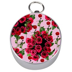 Roses Pink Silver Compasses