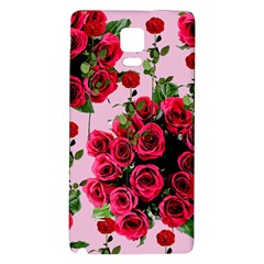 Roses Pink Galaxy Note 4 Back Case
