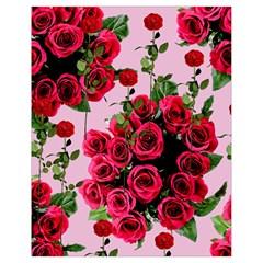 Roses Pink Drawstring Bag (small)