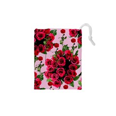 Roses Pink Drawstring Pouches (xs)