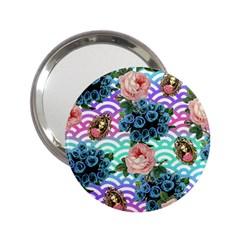 Floral Waves 2 25  Handbag Mirrors