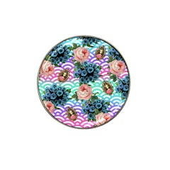 Floral Waves Hat Clip Ball Marker
